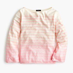 J Crew Deck Stripe Crewneck Dip Dye Sweater S